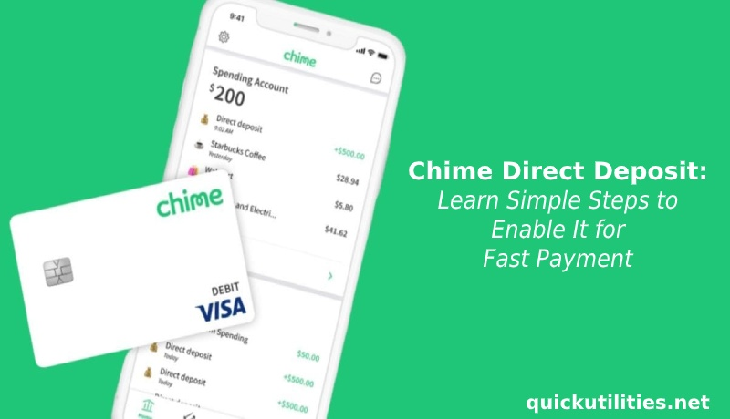 Chime Direct Deposit Learn Simple Steps to Enable It for Fast Payment