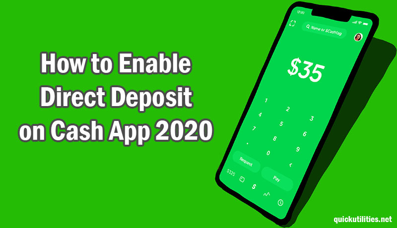 How to Enable Direct Deposit on Cash App 2020