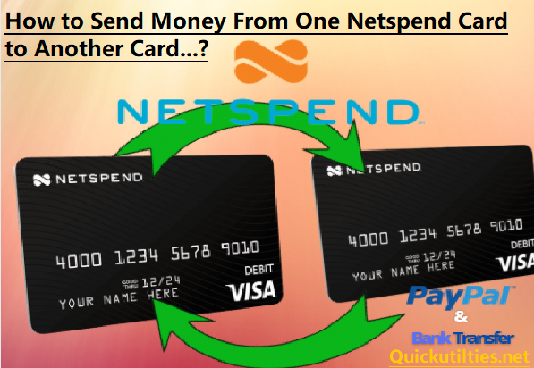 Solved: How To Transfer Money From One Netspend Card To Another Netspend Card?