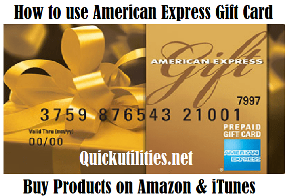 How to Use American Express Gift Card Online?
